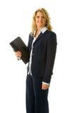 Geschäftsfrau-Holdingfolio Lizenzfreies Stockbild