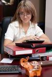 Geschäftsfrau im Büro lizenzfreie stockfotografie