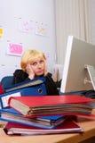 Geschäftsfrau im Druck. Lizenzfreie Stockfotos