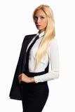 Geschäftsfrau im Gesellschaftsanzug Stockbilder