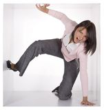 Geschäftsfrau im Würfel Lizenzfreie Stockbilder