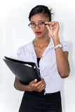 Geschäftsfrau Innen Lizenzfreie Stockbilder