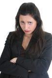 Geschäftsfrau ist sehr traurig lizenzfreies stockbild