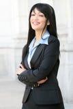 Geschäftsfrau-Lächeln Stockfotografie