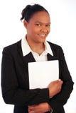Geschäftsfrau, lächelnd stockfoto