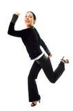 Geschäftsfrau-Läuferhast zum zu arbeiten Lizenzfreie Stockfotos