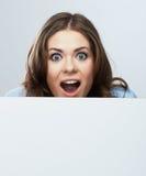 Geschäftsfrau, leeres Brettporträt. Lizenzfreie Stockfotos