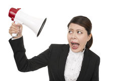 Geschäftsfrau Listen Stockfoto