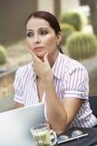 Geschäftsfrau Lost In Thoughts Lizenzfreies Stockbild
