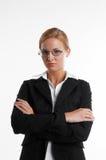 Geschäftsfrau mit Brillen Lizenzfreies Stockfoto