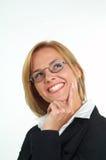 Geschäftsfrau mit Brillen Lizenzfreie Stockbilder