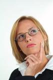 Geschäftsfrau mit Brillen Stockbild