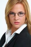 Geschäftsfrau mit Brillen Stockfotos