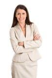 Geschäftsfrau mit den Armen gekreuzt Stockfotografie