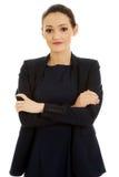 Geschäftsfrau mit den gefalteten Armen Lizenzfreies Stockfoto