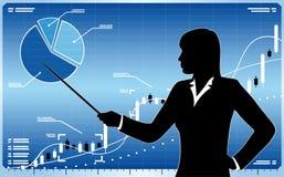 Geschäftsfrau mit Diagramm Lizenzfreie Stockfotografie