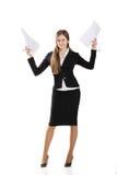 Geschäftsfrau mit Dokumenten Stockfoto