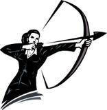 Geschäftsfrau mit einem Bogen vektor abbildung