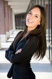 Geschäftsfrau mit einem lachenden Lächeln Stockfoto
