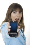 Geschäftsfrau mit einem Pda stockfotografie