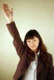 Geschäftsfrau mit einer Frage stockbilder