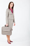 Geschäftsfrau mit Fall Stockbilder