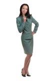 Geschäftsfrau mit Feder Lizenzfreies Stockfoto