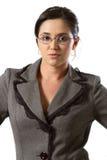 Geschäftsfrau mit glases Lizenzfreie Stockfotos