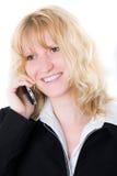 Geschäftsfrau mit handlichem Stockbild