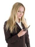 Geschäftsfrau mit Handy Lizenzfreie Stockbilder