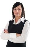 Geschäftsfrau mit ihren Armen gekreuzt Stockbild