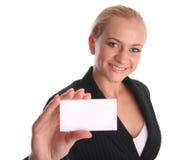 Geschäftsfrau mit Karte lizenzfreie stockfotografie
