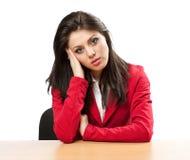 Geschäftsfrau mit Migräne Stockfotos