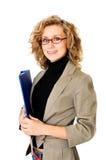 Geschäftsfrau mit Ordner Lizenzfreie Stockbilder