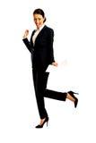 Geschäftsfrau mit Papieranmerkungen Lizenzfreie Stockbilder