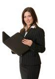 Geschäftsfrau mit Portefeuille Lizenzfreies Stockfoto