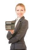 Geschäftsfrau mit Rechner Stockbilder