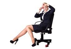 Geschäftsfrau mit Rettichen Lizenzfreies Stockbild