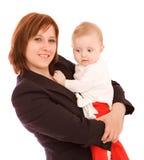 Geschäftsfrau mit Schätzchen stockfotos