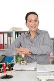 Geschäftsfrau mit Stempel Stockbilder