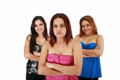 Geschäftsfrau mit Team hinten Stockfotografie