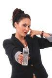 Geschäftsfrau mit Telefon stockfotos