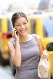 Geschäftsfrau in New York City Stockbilder