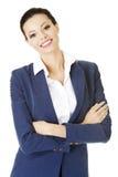 Geschäftsfrau oder Kursteilnehmer in der eleganten Kleidung Stockbilder