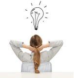 Geschäftsfrau oder Lehrer in der Klage von der Rückseite Lizenzfreie Stockbilder