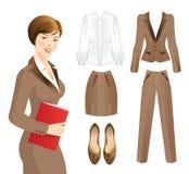 Geschäftsfrau oder Professor im Tweedanzug Lizenzfreie Stockfotos