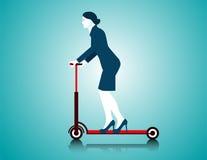 Geschäftsfrau-Reitroller Stockbild