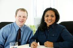 Geschäftsfrau-Schreiben Lizenzfreie Stockfotografie