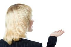 Geschäftsfrau stehen zurück lizenzfreies stockfoto
