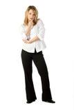 Geschäftsfrau-Stellung Stockbilder